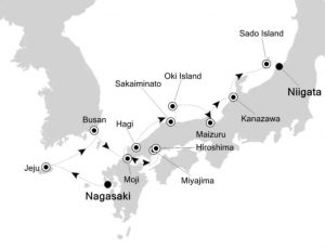 Silversea Asian Expedition Cruise Nagasaki to Nigata Luxury Travel Virtuoso Izumi Ogawa Trip agent vacation advisor Vision Cruise ship boat