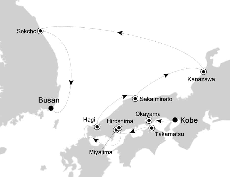 Silversea Asia Expedition Cruise May 2019 Japan Korea Izumi Virtuoso Explorer Host Voyage