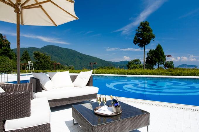 L'Hotel du Lac Shiga Pool Japan and Luxury Travel Specialist Luxury Travel to Japan Izumi Ogawa Travel Agent